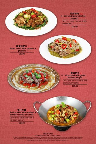 Beef & Lamb Dishes
