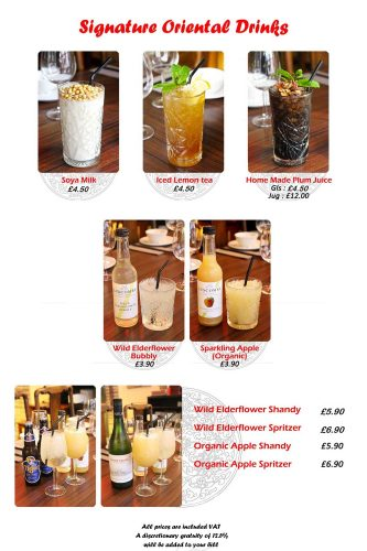 Bashan Signature Oriental Drinks